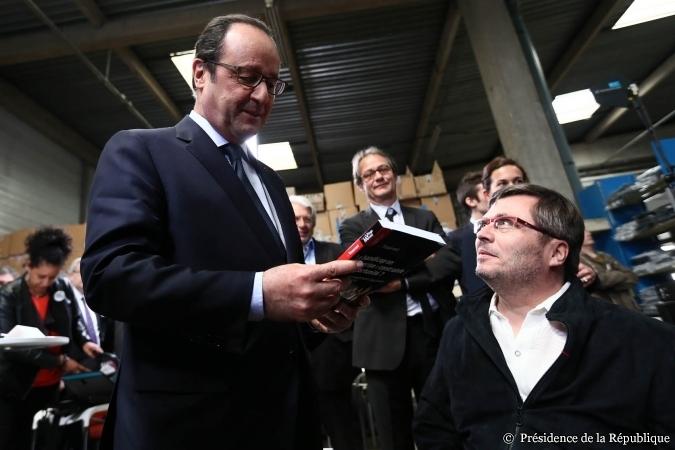 Guy Tisserant et François Hollande